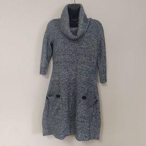 London Times Cowl Neck Sweater Dress PL